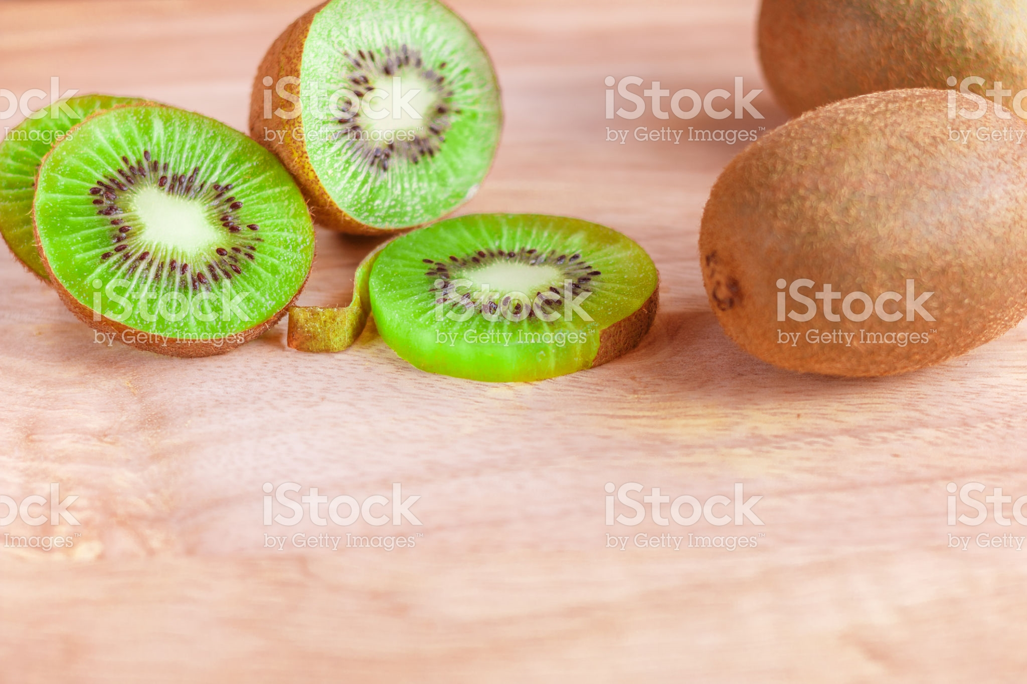 Kiwi fruit cut into pieces