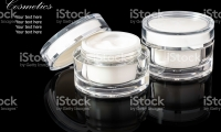 White colored blank cosmetic-container